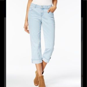 Style & Co Wide Cuffed Crop Jeans